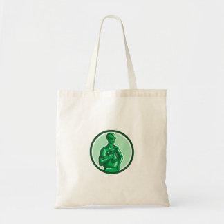 Círculo verde de Nailgun del trabajador de