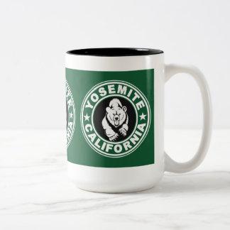 Círculo verde de Yosemite Tazas De Café