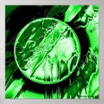Círculo verde impresiones