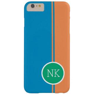 Círculo verde moderno con la mandarina funda para iPhone 6 plus barely there