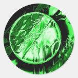 Círculo verde pegatina redonda