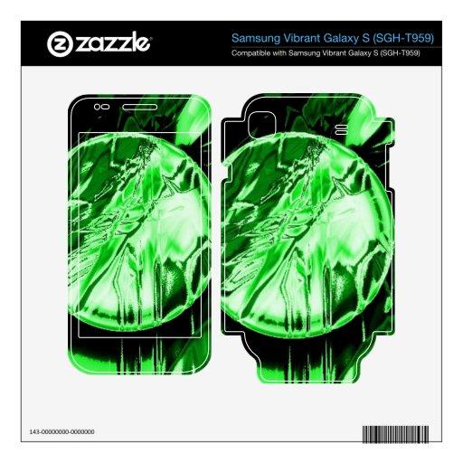 Círculo verde skins para samsung vibrant