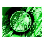 Círculo verde tarjeta postal