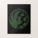 Círculo verde tradicional de Phoenix Puzzles