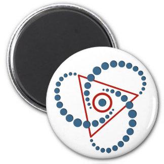 círculo VI de la cosecha Imán Redondo 5 Cm