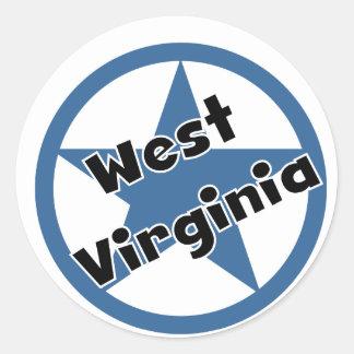 Círculo Virginia Occidental Pegatina Redonda