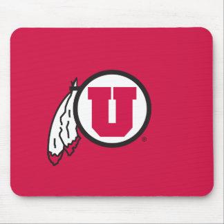 Círculo y plumas de Utah U Tapetes De Ratones