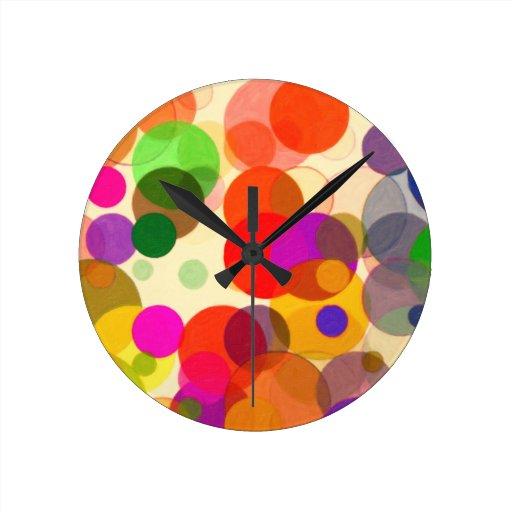 círculos 2 relojes de pared