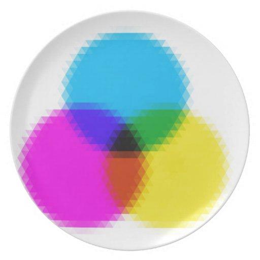 círculos 4 plato para fiesta