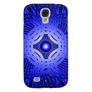 Círculos abstractos azules: funda para galaxy s4
