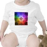 Círculos abstractos coloridos: traje de bebé