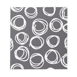 Círculos abstractos concéntricos libreta para notas