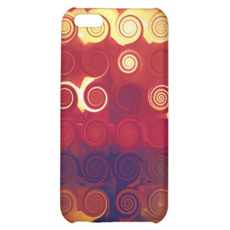 Círculos abstractos de la caja iPhone4 de la mota