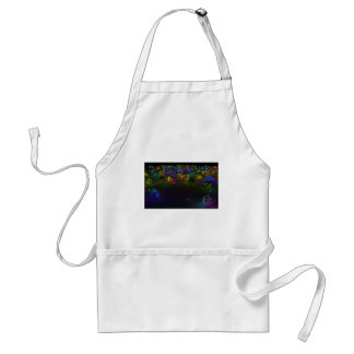 Círculos abstractos del multicolor delantal