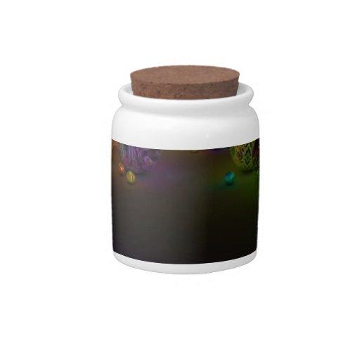 Círculos abstractos del multicolor jarra para caramelo