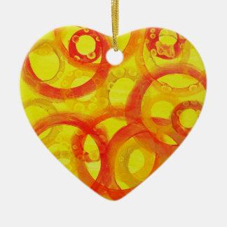 Círculos abstractos del naranja y del amarillo ornamentos de navidad