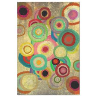 Círculos abstractos papel de seda extragrande