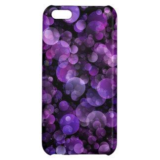 Círculos abstractos púrpuras violetas Amethyst de