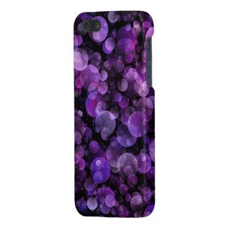 Círculos abstractos púrpuras violetas Amethyst de  iPhone 5 Cárcasas