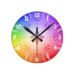 Círculos abstractos: Reloj de pared