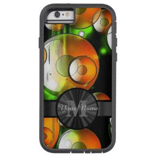 Círculos abstractos y monograma personalizado funda tough xtreme iPhone 6