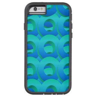 Círculos acodados del azul de océano funda de iPhone 6 tough xtreme