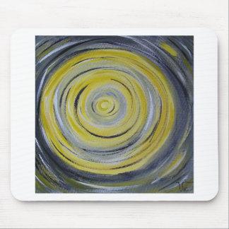 círculos amarillos del blanco gris alfombrillas de ratón