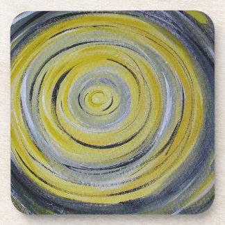 círculos amarillos del blanco gris posavaso