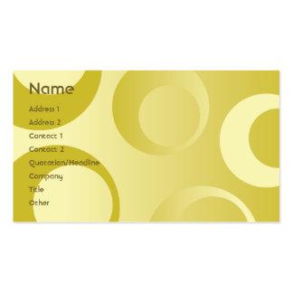 Círculos amarillos - negocio tarjetas de visita