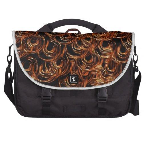 Círculos anaranjados bolsa de ordenador