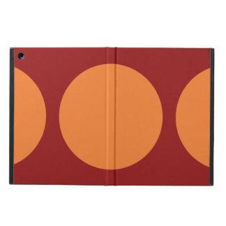 Círculos anaranjados en rojo