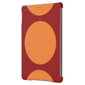 Círculos anaranjados en rojo funda para iPad air