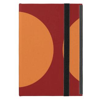 Círculos anaranjados en rojo iPad mini protector