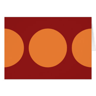 Círculos anaranjados en rojo tarjeta de felicitación