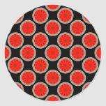 círculos anaranjados etiquetas