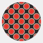 círculos anaranjados etiquetas redondas