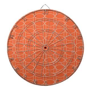 Círculos anaranjados retros