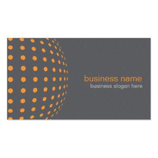 Círculos anaranjados simples modernos elegantes tarjeta de visita