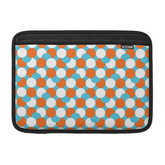 Círculos artsy del trullo y del naranja fundas para macbook air
