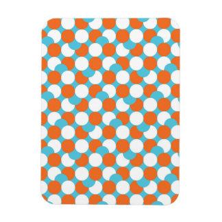 Círculos artsy del trullo y del naranja rectangle magnet