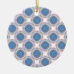 Círculos azules adorno para reyes