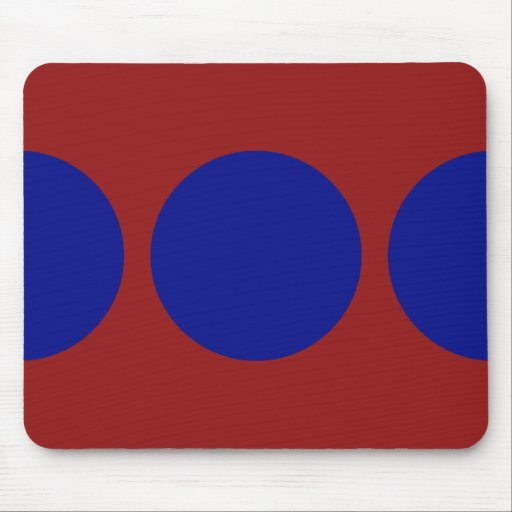 Círculos azules en rojo tapetes de ratón