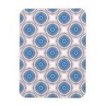 Círculos azules imanes rectangulares