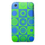 Círculos azules iPhone 3 funda