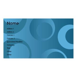 Círculos azules - negocio tarjetas de visita