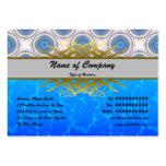 Círculos azules plantillas de tarjetas personales