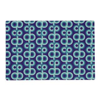 Círculos azules psicodélicos tapete individual