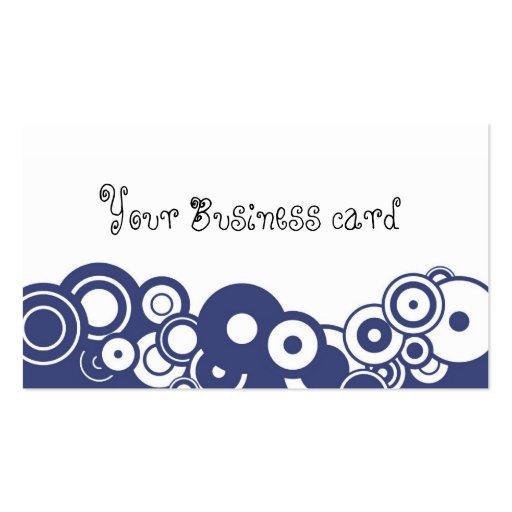 Círculos azules retros plantilla de tarjeta de negocio
