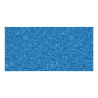 Círculos azules tarjetas fotograficas