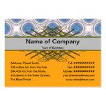 Círculos azules tarjeta de visita